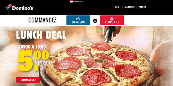 code promo Dominos pizza